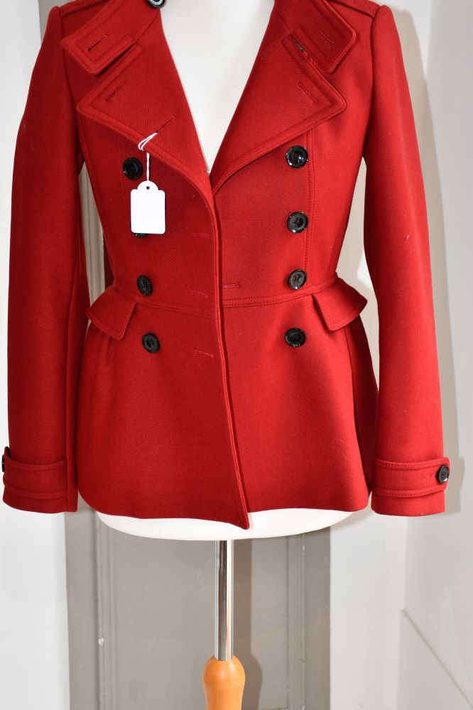 Burberry Brit wool mix red coat